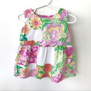 Lilly Pulitzer Patchwork Monkey Baby Dress 12-18 m